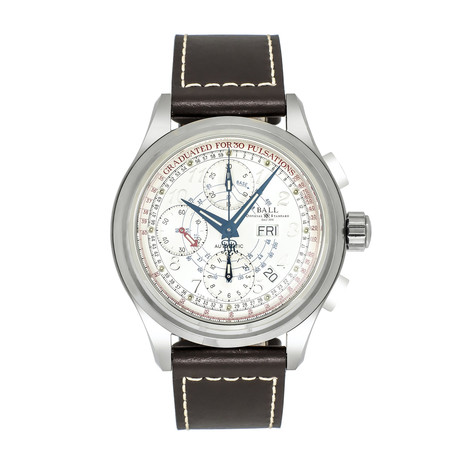 Ball Trainmaster Pulse Meter Chronograph Automatic // CM1010D-LJ-WH // Store Display