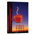 Coffee Cup & Public Market Neon Signs, Pike Place Market, Seattle, Washington, USA // Paul Souders