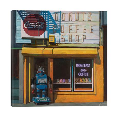 "Blue Zeroid // Eric Joyner (26""W x 26""H x 1.5""D)"