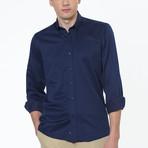 Peter Button-Up Shirt // Dark Blue (Small)