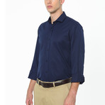 Harden Button-Up Shirt // Dark Blue (Small)