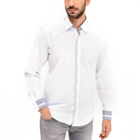 Travis Button-Up Shirt // White (Small)