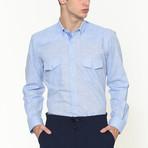Milo Button-Up Shirt // Blue (Small)
