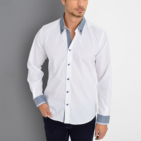 Dane Button-Up Shirt // White (Small)