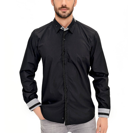 Travis Button-Up Shirt // Black (Small)
