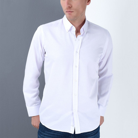Peter Button-Up Shirt // White (Small)