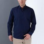 Luke Button-Up Shirt // Blue (Small)