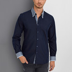 Aiden Button-Up Shirt // Dark Blue (Small)
