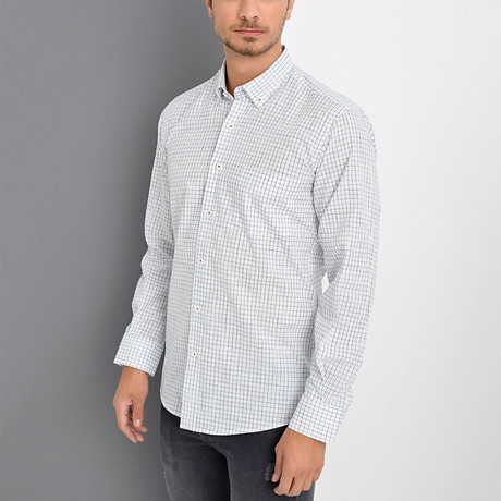 Justin Button-Up Shirt // White (Small)