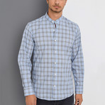 Cyrus Button-Up Shirt // Blue + Dark Blue (Small)