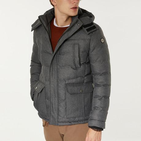 Utility Puffer Jacket // Gray (XS)