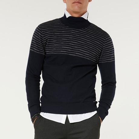 Moc Neck Sweater // Navy Blue (XS)