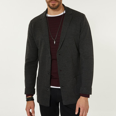 Wool Blend Casual Dinner Jacket // Gray (XS)