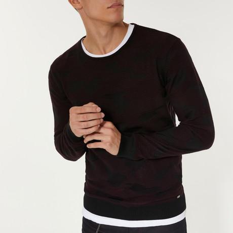 Textured Sweater // Claret Red (XS)