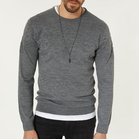Wool Blend Crewneck Sweater // Gray (XS)