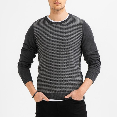 Narrow Cable Knit Sweater // Anthracite (XS)