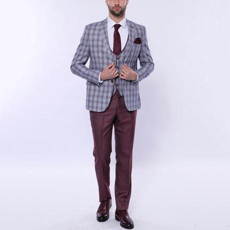 Cyrus 3-Piece Slim Fit Suit // Light Blue (Euro: 42)