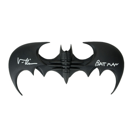 Val Kilmer // Batman Forever // Autographed Batarang + Batman Inscription