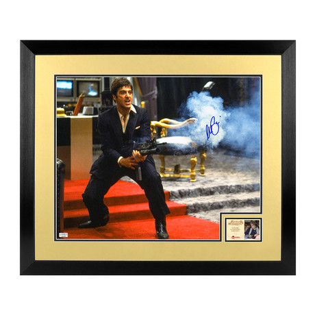 Al Pacino // Scarface // Framed + Autographed Photo
