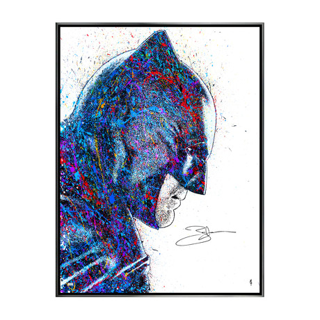 Ben Affleck // Dawn of Justice // Autographed Michael Ferrari Canvas