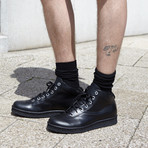 Lil K Leather // Black Calf (Euro: 45)