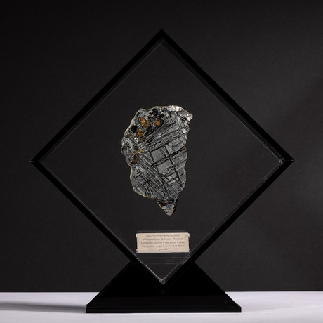 Magadanskaya Oblast Seymchan Meteorite with Olivine + Acrylic Display // Ver. 1