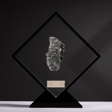 Magadanskaya Oblast Seymchan Meteorite with Olivine + Acrylic Display // Ver. 2