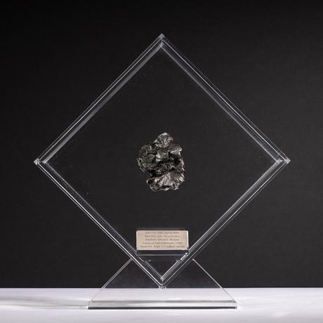 Siberian Sikhote Alin Meteorite + Acrylic Display // Ver. 8
