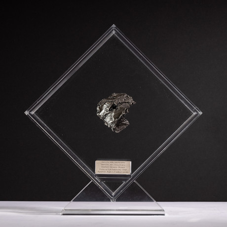 Siberian Sikhote Alin Meteorite + Acrylic Display // Ver. 10