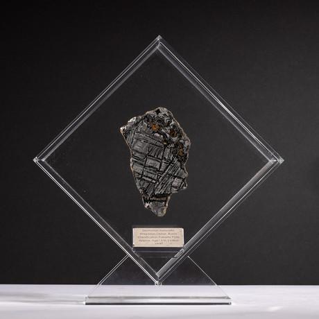 Magadanskaya Oblast Seymchan Meteorite with Olivine + Acrylic Display // Ver. 3