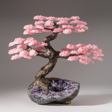 The Love Tree // Rose Quartz Tree + Amethyst Matrix // Custom v.10