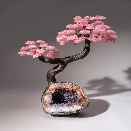 The Love Tree // Rose Quartz Tree + Amethyst Matrix // Custom v.11