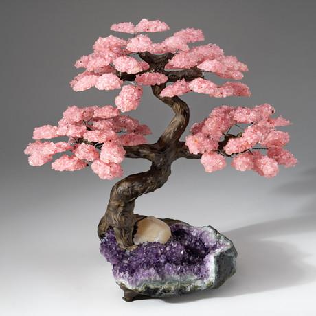 The Love Tree // Rose Quartz Tree + Amethyst Matrix // Custom v.9