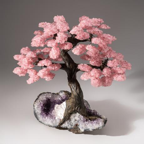 The Love Tree // Rose Quartz Tree + Amethyst Matrix // Custom v.8