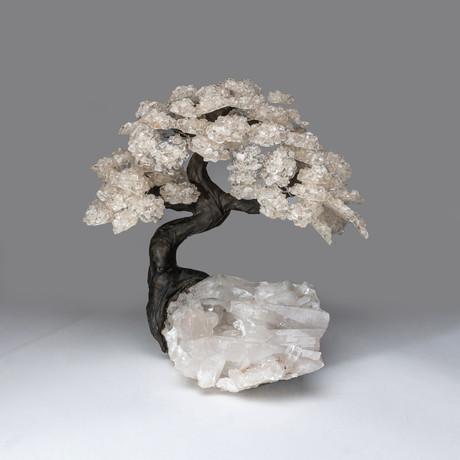 The Healing Tree // White Quartz Tree + Quartz Matrix // Custom XL