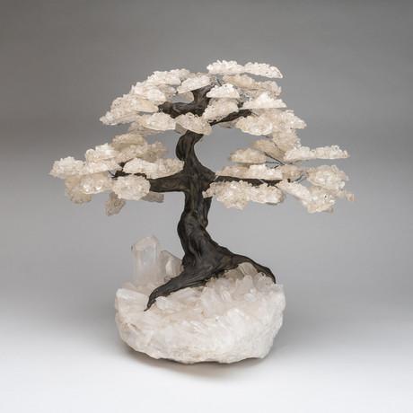 The Healing Tree // White Quartz Tree + Quartz Crystal Matrix // Custom XL