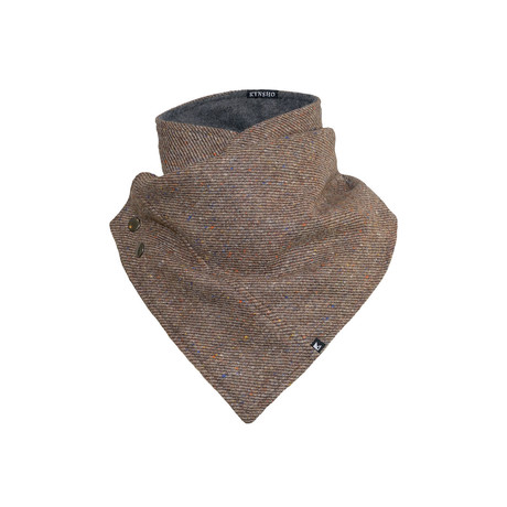 Crossover Cowl // Speckle Brown