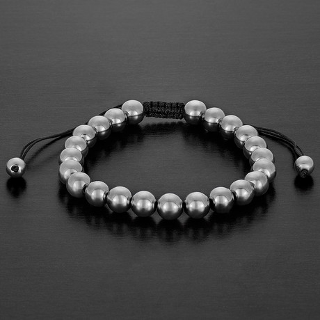 Hematite Adjustable Bracelet // 8mm (Gray)