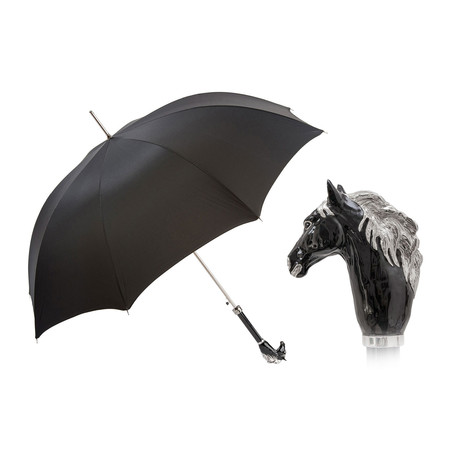 Long Umbrella // Black Horse Handle