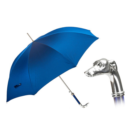 Long Umbrella // Silver Grayhound Handle