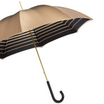 Double Cloth Long Umbrella // Ivory + Striped Interior
