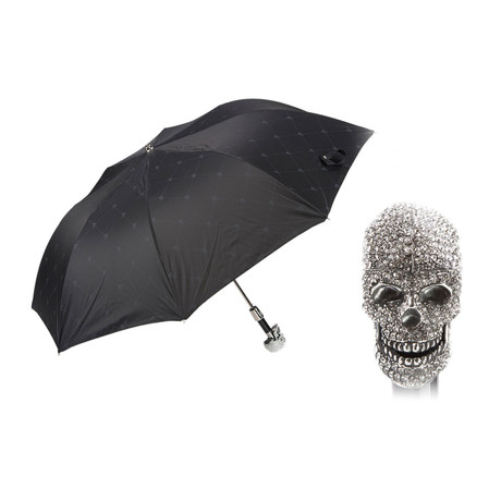 Folding Umbrella // Swarovski® Skull Handle