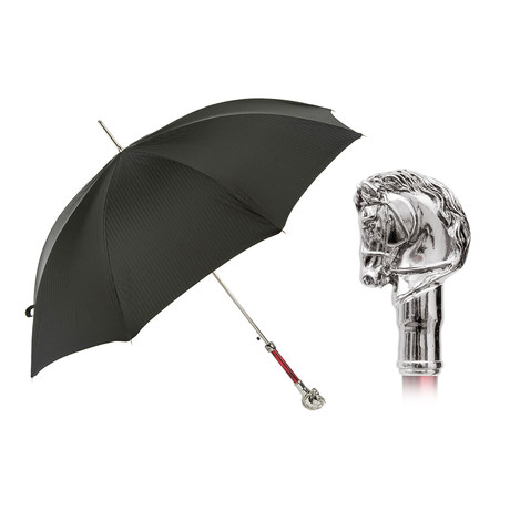 Long Umbrella // Silver Horse Handle