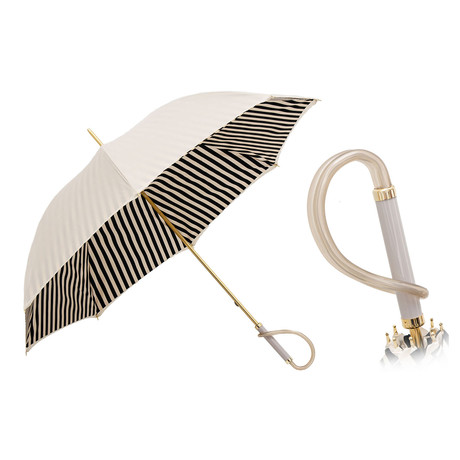 Striped Long Umbrella // Black