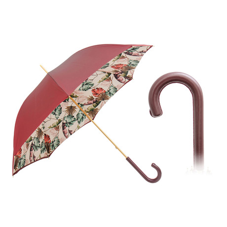 Tropical Bordeaux Long Umbrella