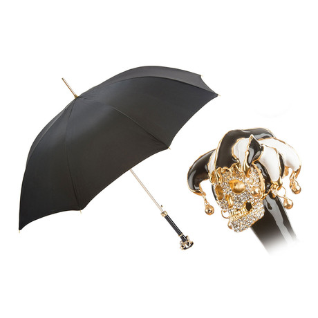 Long Umbrella // Swarovski® Jester Skull Handle