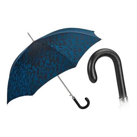 Camouflage Long Umbrella // Navy Blue