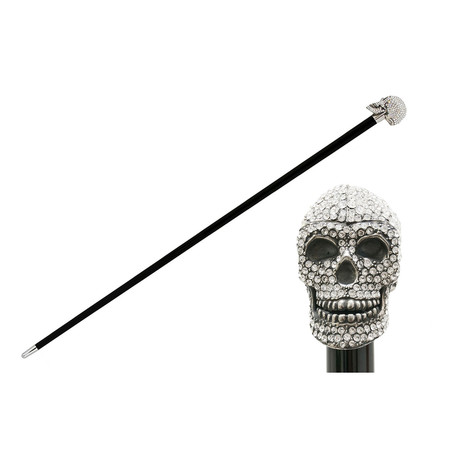Swarovski® Skull Cane // Clear