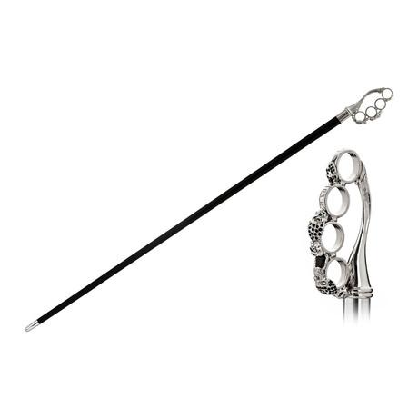 Brass Knuckle + Swarovski® Crystals Cane // Black