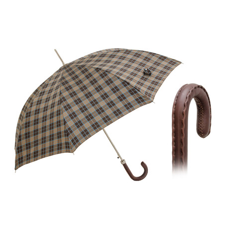Moccasin Stitching Long Umbrella